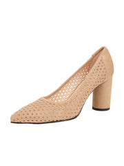 Tan Suede Pointed Toe Summer Heel Full