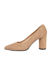 Tan Suede Pointed Toe Summer Heel Side 6
