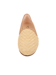 Women's Natural Raffia Summer Loafer Front 4