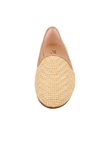 Women's Natural Raffia Summer Loafer Front 4 Alternate View