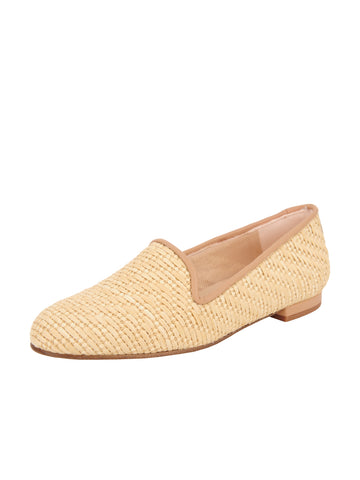 Women's Natural Raffia Summer Loafer Full