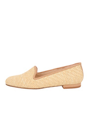 Women's Natural Raffia Summer Loafer Side 6