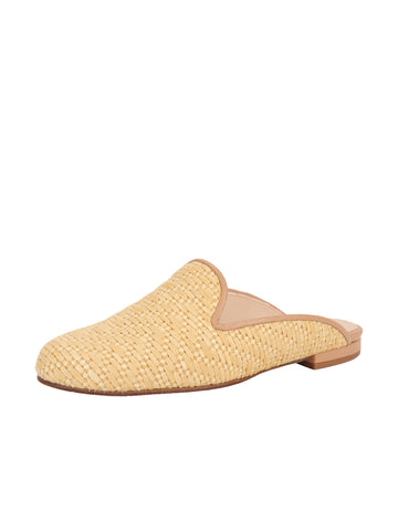 Women's Natural-Raffia-Flat-Mule Full