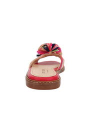 Rainbow Raffia Slide Sandal Back 2