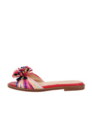 Rainbow Raffia Slide Sandal Side 6