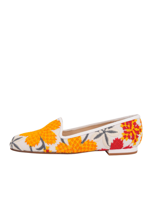 Women's Red-Flower Tapestry Loafer Side 6