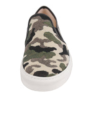 Camo Slip on Sneanker Front 4