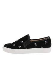 Black Velvelt Slip on Sneanker Side 7