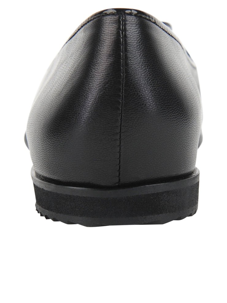 Black Leather Belgian Loafer Back 2