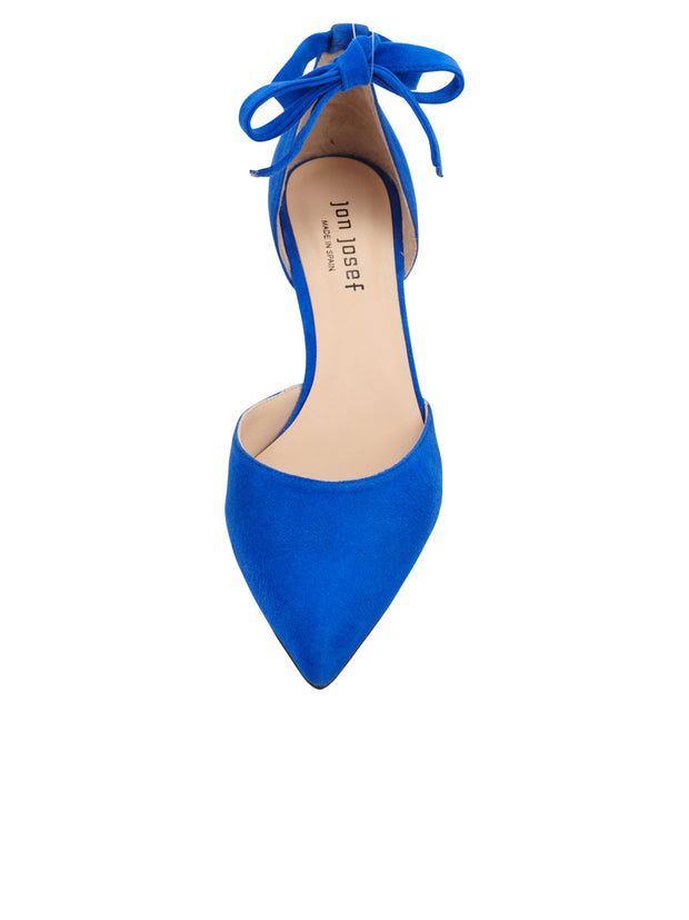 Womens Azul Fluo Suede Lazada Suede Pointed Toe Pump 5