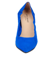 Womens Azul Fluo Suede Party Rock And Roll Pump 4