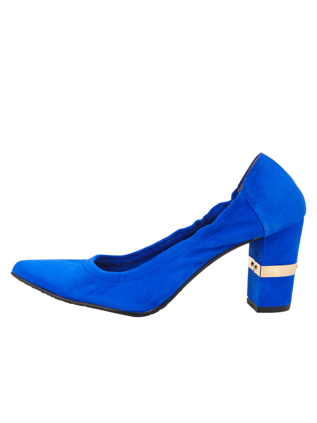 Womens Azul Fluo Suede Party Rock And Roll Pump 6