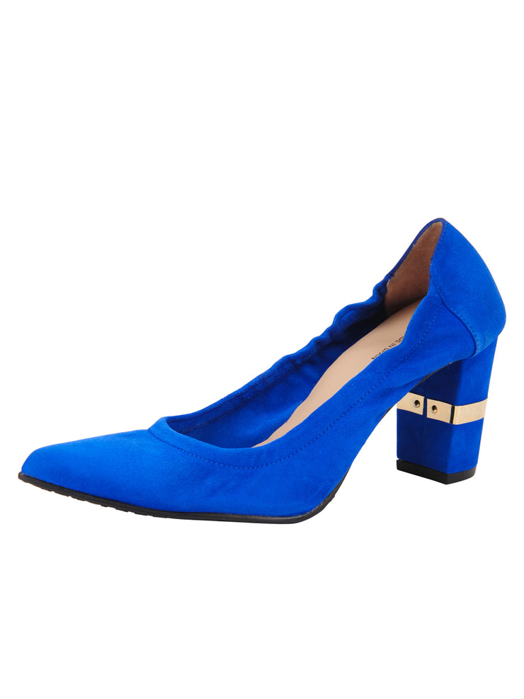 Womens Azul Fluo Suede Party Rock And Roll Pump