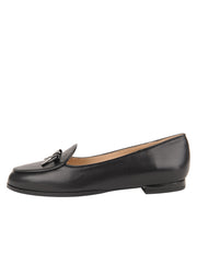 Womens BLACK CALF/BLACK PATENT BELGICA LOAFER 6
