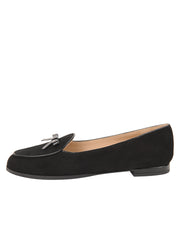 Womens BLACK SUEDE/BLACK PATENT BELGICA LOAFER 6