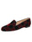 Womens BLACK/ WINE VELVET GATSBY PATCHWORK FLAT