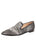 Womens Black-Pewter Pony Loafer