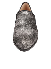 Womens Black-Pewter Pony Loafer 4