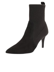 Womens Black Combo High Heel Bootie