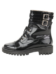 Womens Black Florentic GWENDELYN MOTO BUCKLE BOOT 6