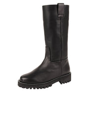 Womens Black Leather/Black Lining GINA MOTO BOOT 2