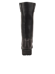 Womens Black Leather/Black Lining GINA MOTO BOOT 6
