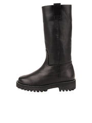 Womens Black Leather/Black Lining GINA MOTO BOOT 7
