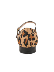 Womens Black Leather/Leopard MARA POINTED TOE MARY JANE 2