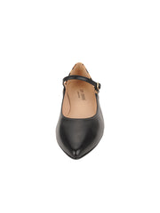 Womens Black Leather/Leopard MARA POINTED TOE MARY JANE 4