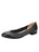 Womens Black Leather Maya Rock And Roll Flat
