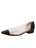 Womens Black Leather Rule Pointed Toe Vinyl Flat