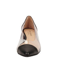 Womens Black Leather Rule Pointed Toe Vinyl Flat 4