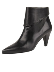 Womens Black Leather ELBA CONVERTIBLE ANKLE BOOTIE