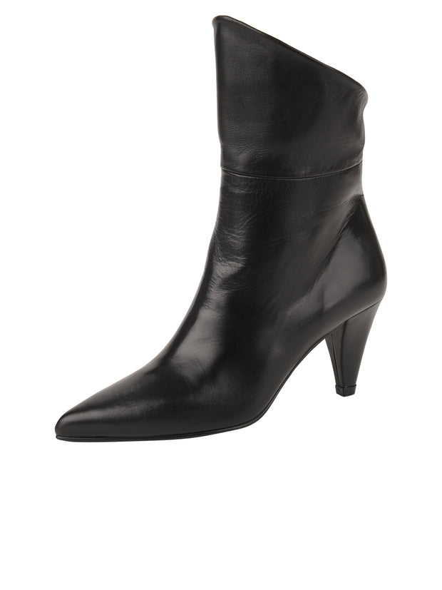 Womens Black Leather ELBA CONVERTIBLE ANKLE BOOTIE 7