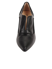 Womens Black Leather Pump 4