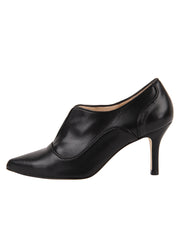 Womens Black Leather Pump 6
