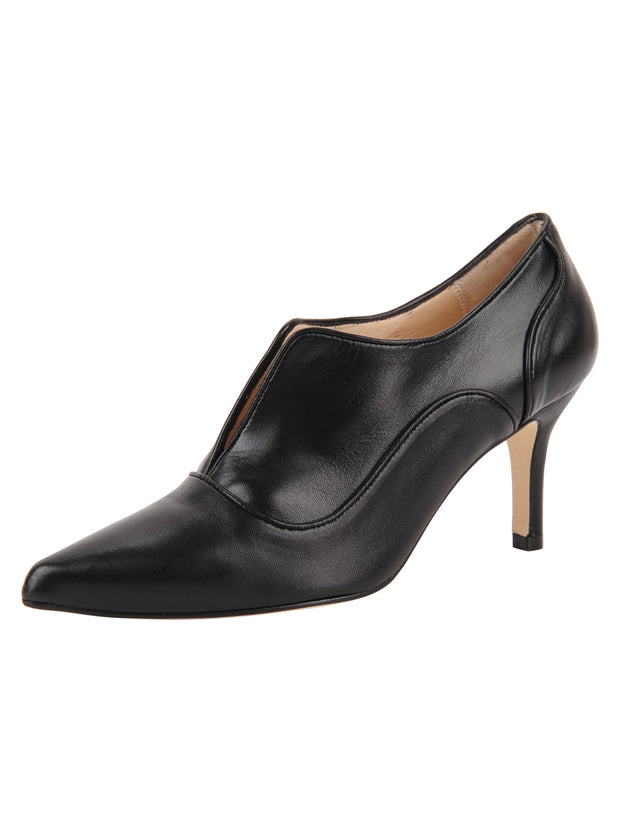 Womens Black Leather Pump