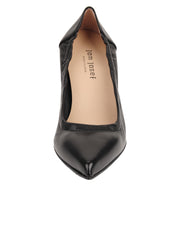 Womens Black Leather Party Rock And Roll Pump 4