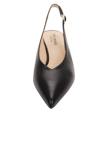 Womens Black Leather Slingback Pump 4 Alternate View
