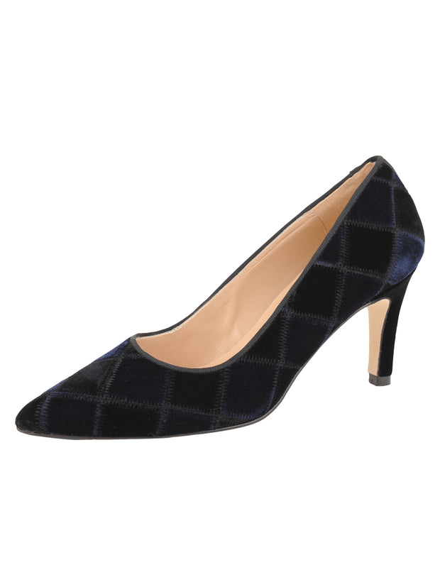 Womens Black/Navy High Heel Pump