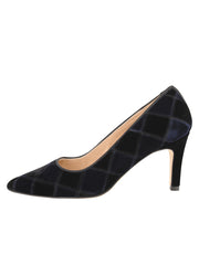 Womens Black/Navy High Heel Pump 6