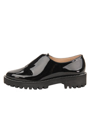 Womens Black Patent GOLF LUG SOLED SLIP ON SHOE 6