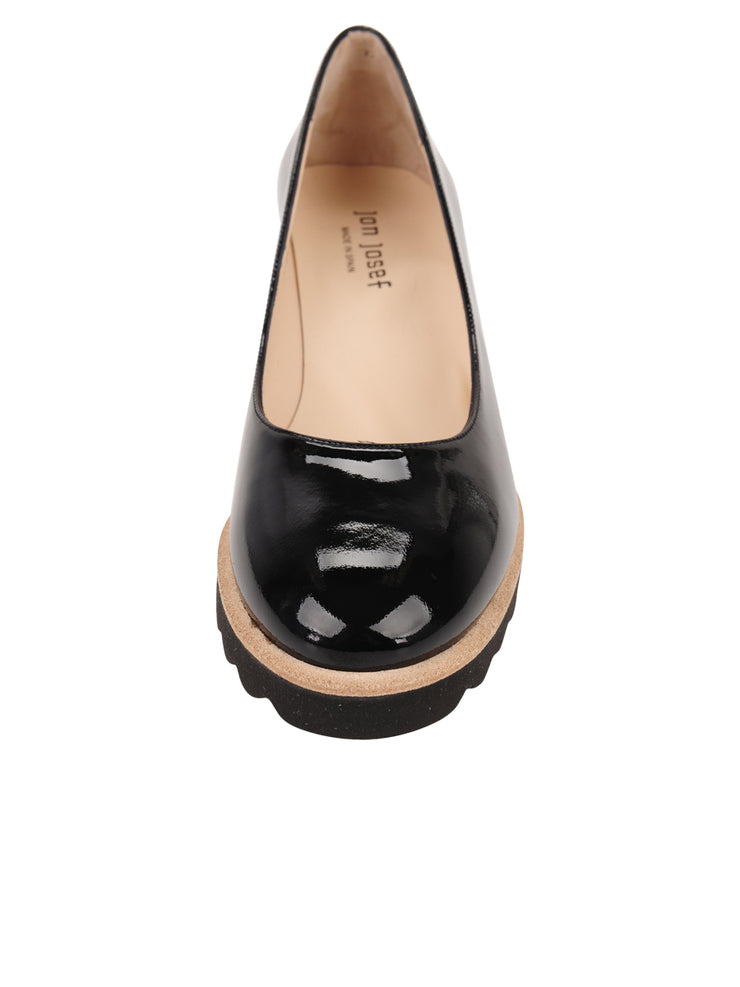 Womens Black Patent Katie Lug Pump 4