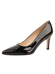 Womens Black Patent High Heel Pump