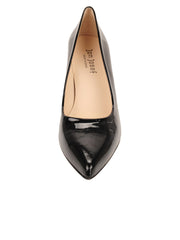 Womens Black Patent High Heel Pump 4
