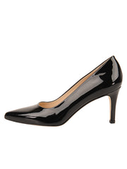 Womens Black Patent High Heel Pump 6
