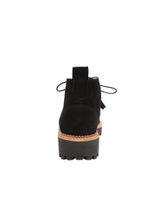 Womens Black Suede Ankle Boot 2