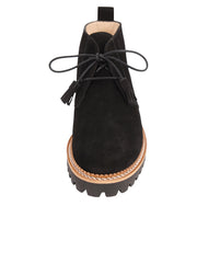 Womens Black Suede Ankle Boot 4