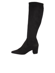 Tall black suede stretch boot 7