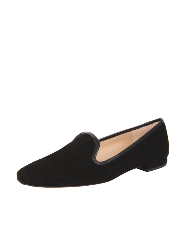 Womens Black Suede Pluto Loafer